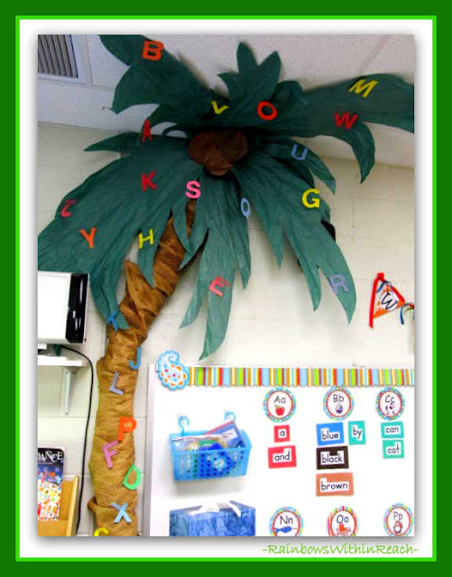 "photo of: Classroom Tree for ""Chicka-Chicka Boom Boom"" at RainbowsWithinReach"