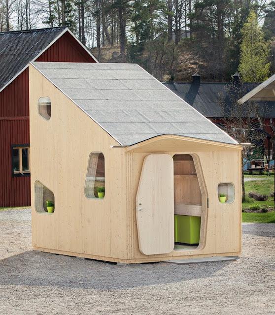 Arquitectura creativa, casa de 10m2, patio exterior