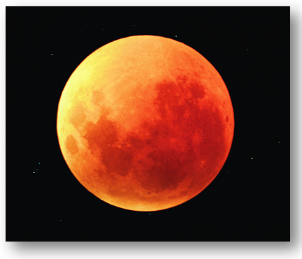 Lua de sangue, eclipse Lunar.
