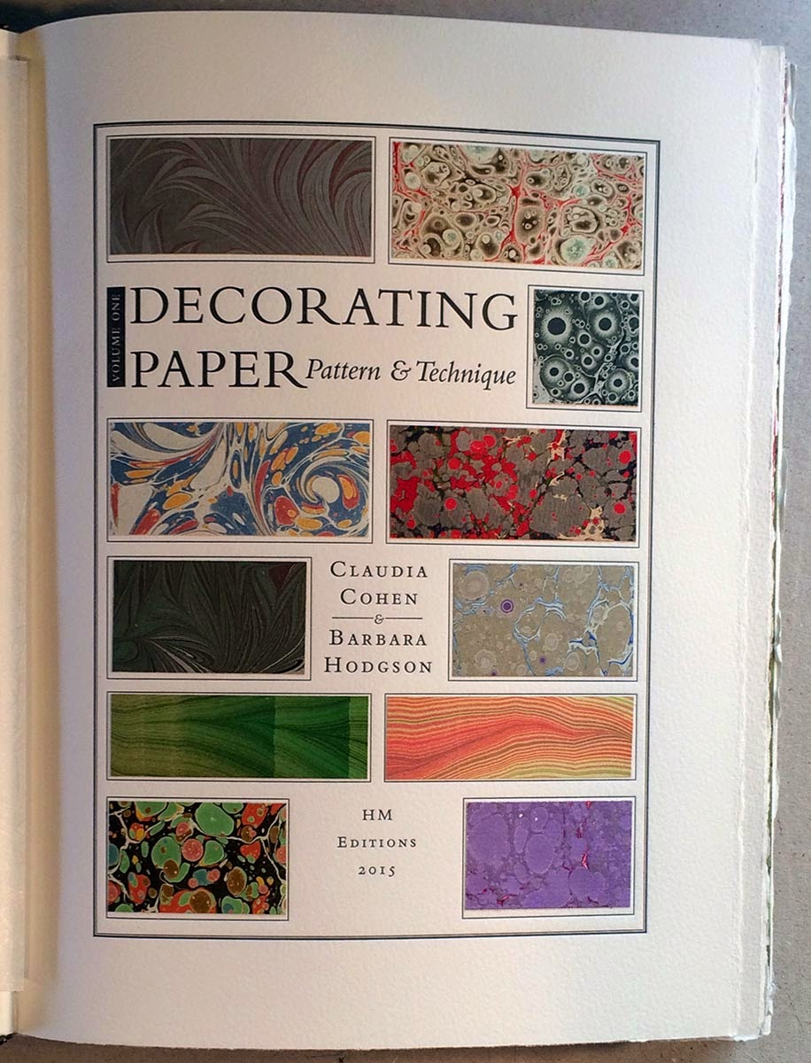 the second of five qa posts with the co creators of decorating paper a new compendium of traditional techniques for embellishing paper with color and