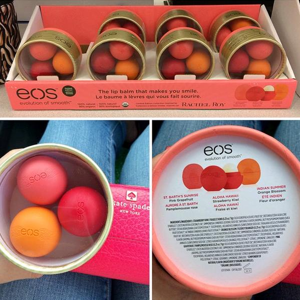 spotted eos holiday 2014 limited edition rachel roy lip