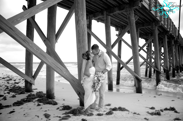 romantic beach wedding photo at St. Andrew's State Park