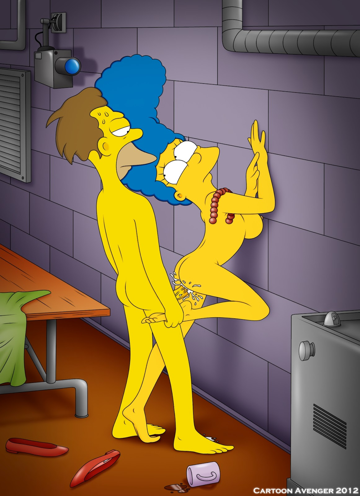 foot porn simpson Marge