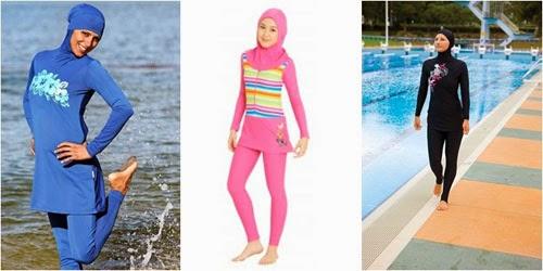 Baju Renang Muslimah Burkini Untuk Hijabers