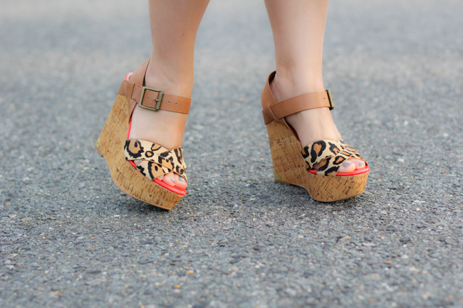 fun animal print platform shoes