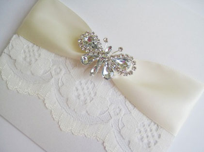 Pearl and Lace Wedding Invitation are attractive your guests