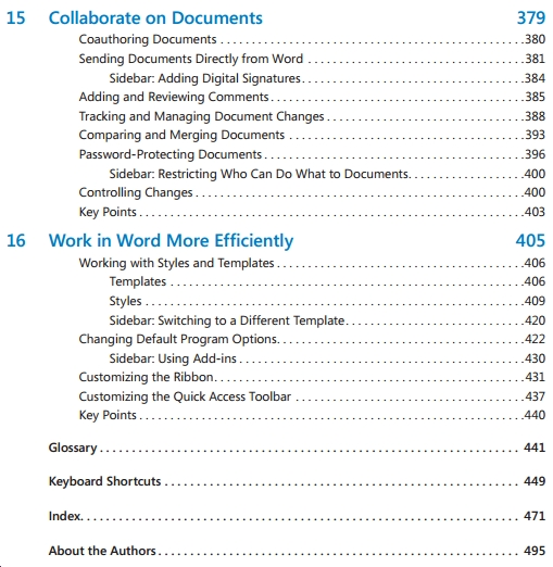 MS word 2010 by Joyce cox and Joan Lambert