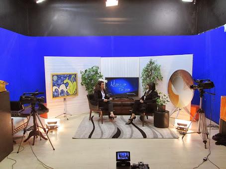 Programa Maria Paiva Entrevista com a Ecotela no cenário!