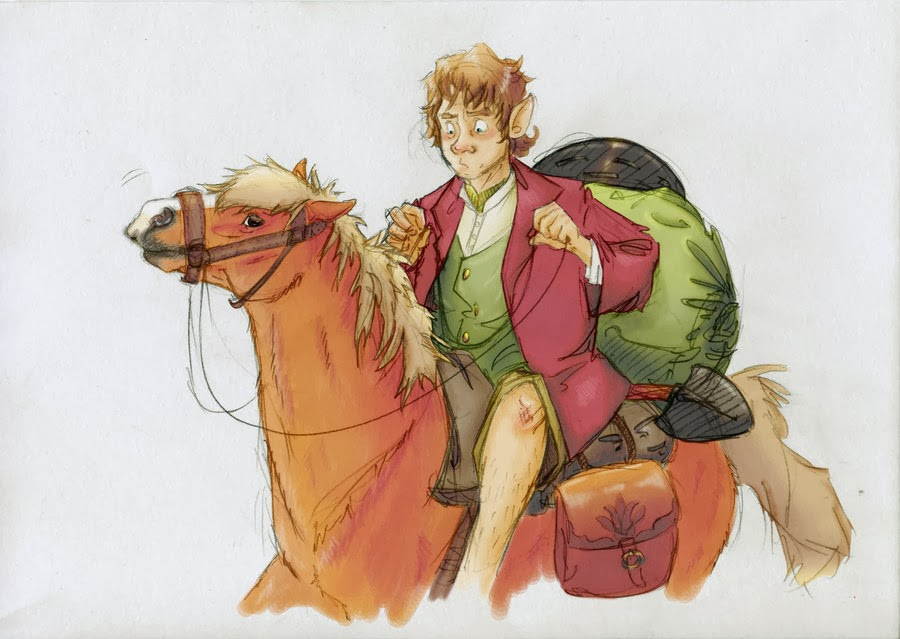 bilbo-baggins-riding-pony-the-hobbit