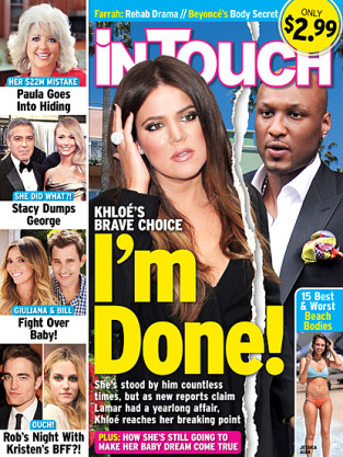 In Alleged News....Khloe Kardashian and Lamar Odom May Be Divorcing, Due to Lamar's Infidelity