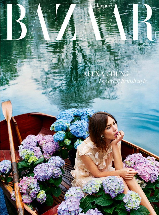 Alexa Chung covers Harper's Bazaar UK July 2015