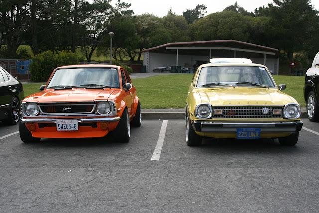 Toyota Corolla Levin E20 & Mitsubishi Colt Lancer GSR A70, klasyk, stare japońskie samochody, oldschool, piękne coupe