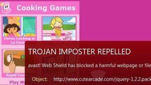 Laman web game untuk kanak-kanak adalah sasaran virus
