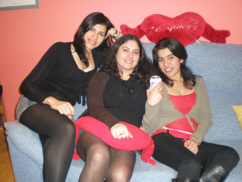 Happy Iranian girls at home