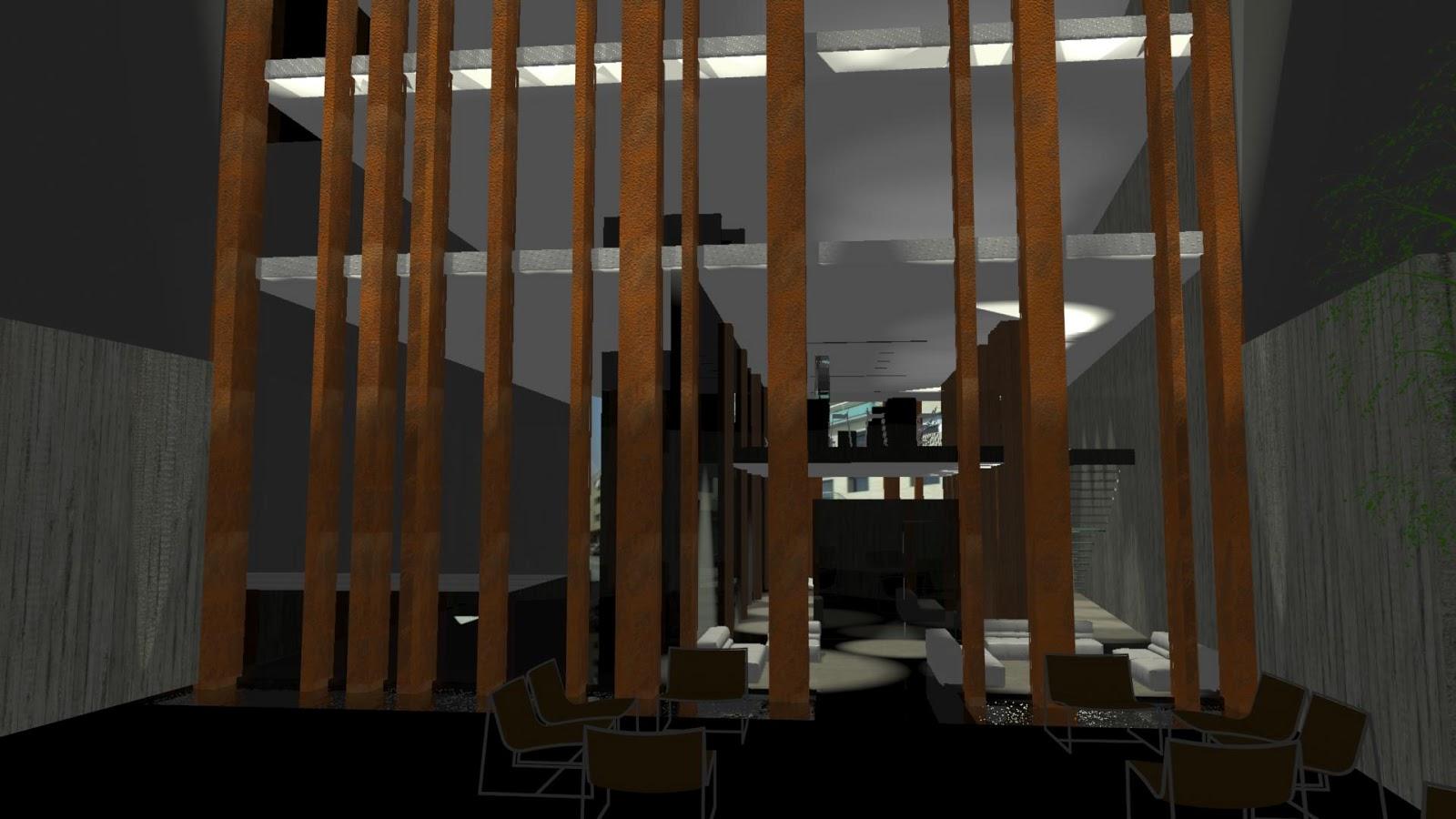 Vest bulo de hotel en terrassa atelier victor salme for Fachada acero corten