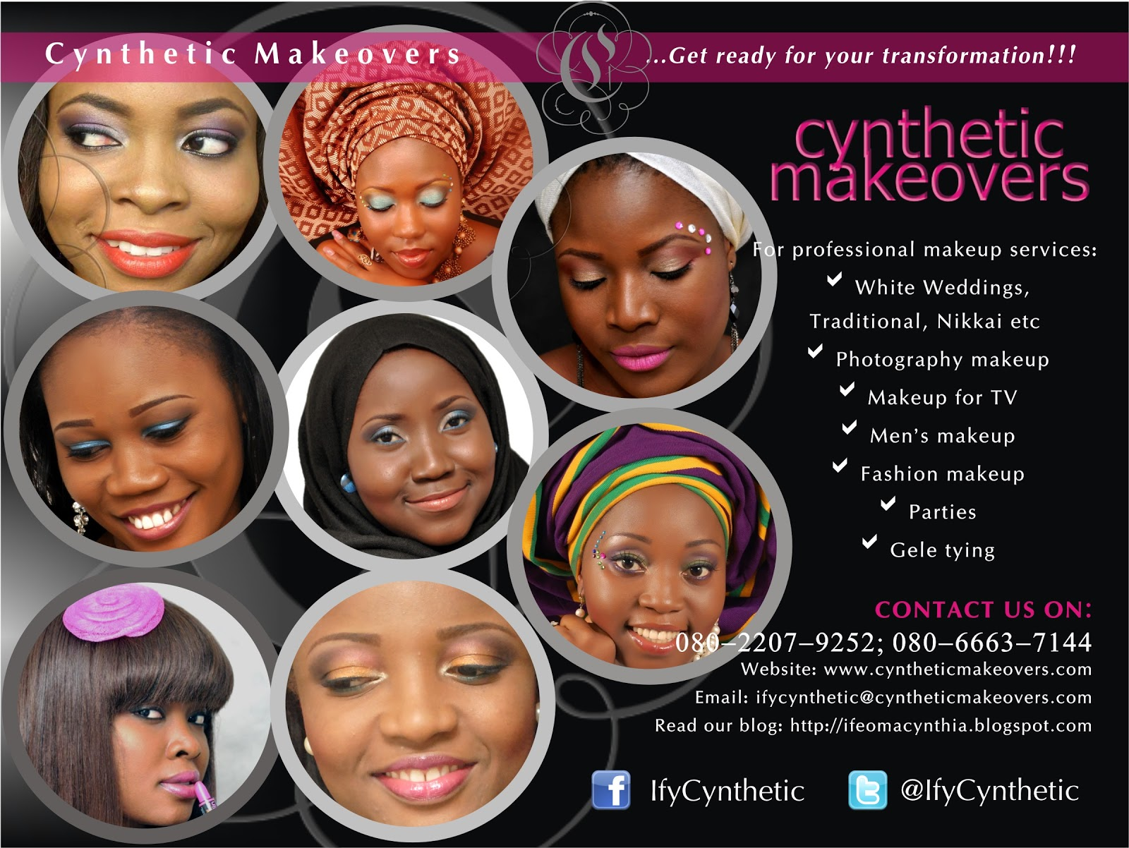 Cynthetic Makeovers flyer