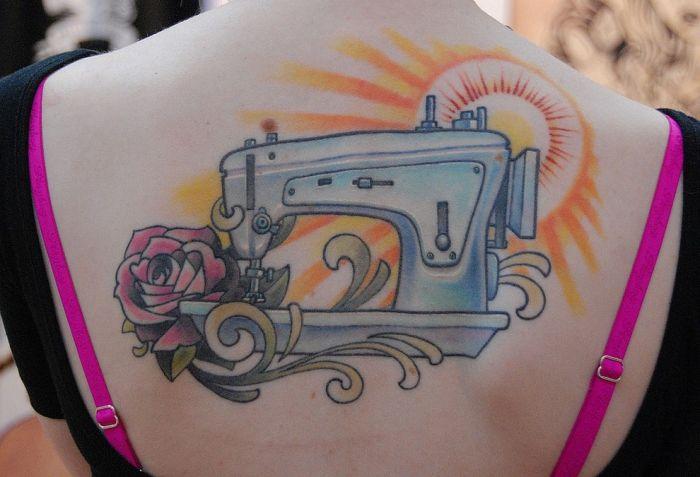 Visual Phenomena And Optical Illusions Sewing Machine Tattoo Design