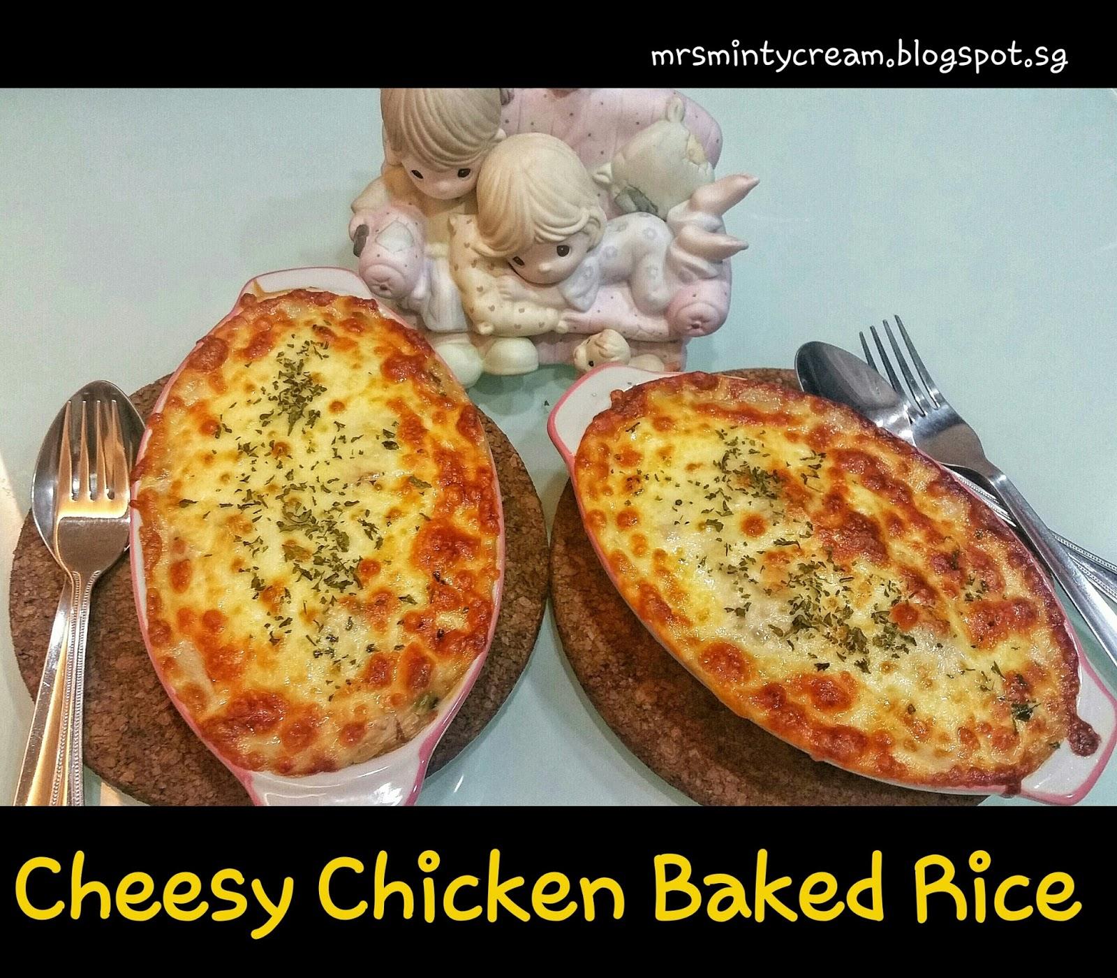 Cheesy Baked Rice Recipe — Dishmaps