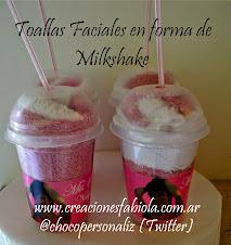 Souvenirs Personalizado en Toalla Milkshake