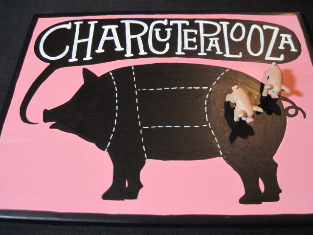Charcuterie Painted Ceramic Tile