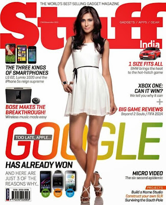 Preeti Desai on the cover of Stuff magazine
