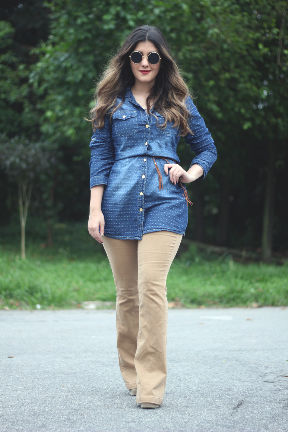 Flare + Chemise Jeans - Anos 70