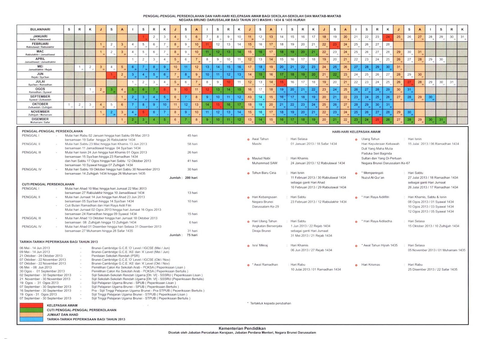 kalendar berkenaan kalendar persekolahan saiz besar 6 6mb sila klik di ...