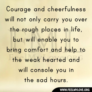 Courage and cheerfulness will not only carry you