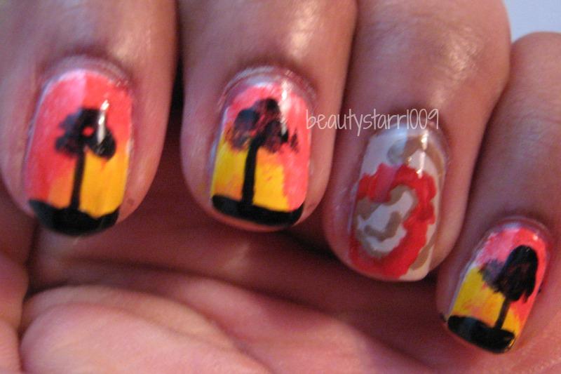 I\'m just me...ChiChi: Disney Nail Art Challenge - Lion King