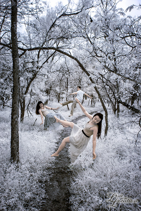 infrared, Canon 50D, levitation, forest, people levitating in a forest, Lisa On Location Photography, New Braunfels, San Antonio, San Marcos, Austin