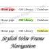 Stylish Wire Frame Navigation Bar For Blogger
