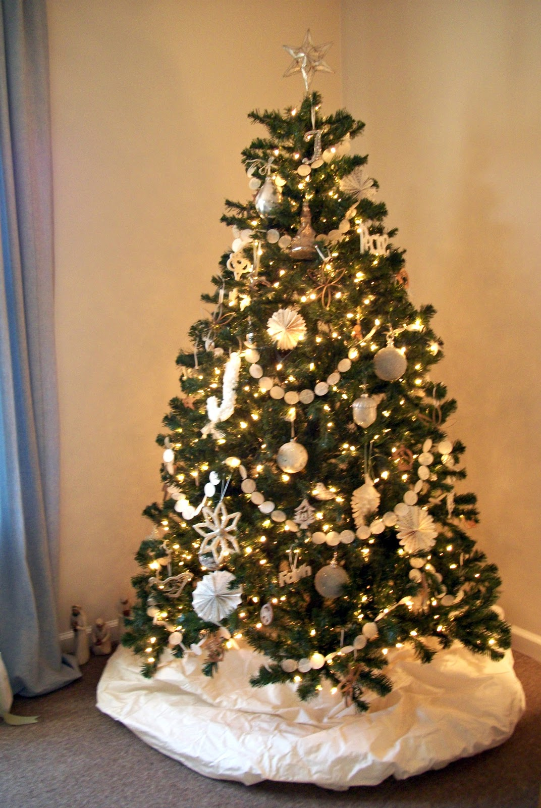 Faith home love oh christmas tree - Sapin de noel decore ...