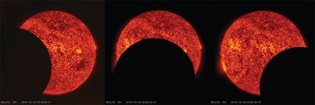 La NASA celebra Halloween con un eclipse-hierogamia