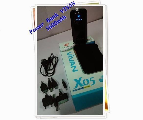 POWER BANK VIVAN X05 5600mAh BLACK Rp 265000