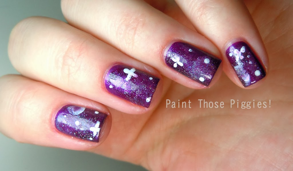 Nail Art Collection Purple Galaxy Nails