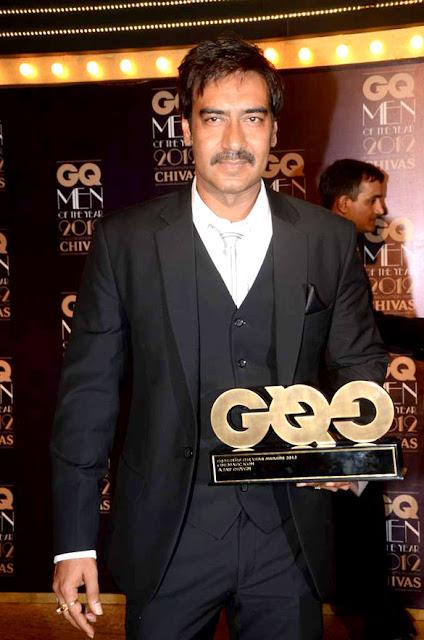 Kajol & Ajay Devgan at GQ Men Of The Year 2012 Awards
