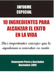 10 INGREDIENTES PARA ALCANZAR EL EXITO