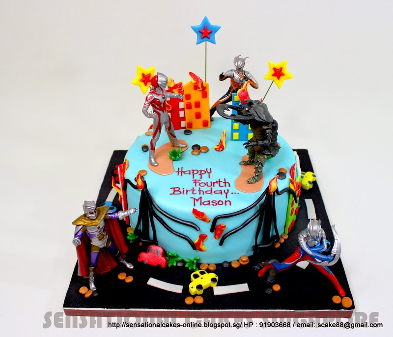 ... cakes Singapore: ULTRAMAN MONSTER / KAMEN RIDERS CAKE SINGAPORE