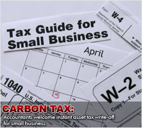 Carbon Tax: Accountants Welcome Instant Asset Tax Writ-off for Small Business