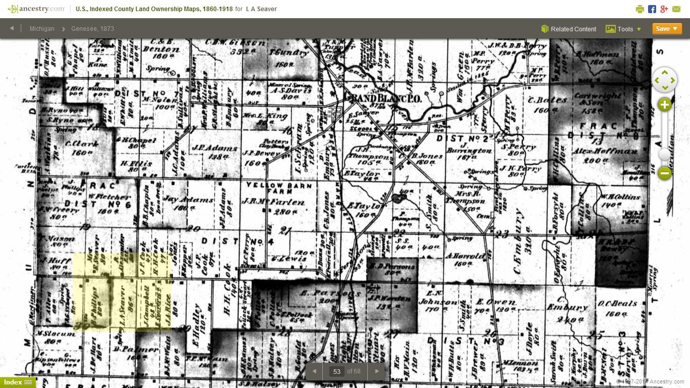 Genea-Musings: Rabbit Trail - Where Was Aaron Seaver\'s Land in Grand ...