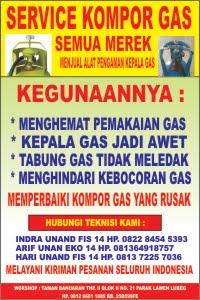 CV MAHA MERU JAYA  MENERIMA SERVIS  DAN PERBAIKAN KOMPOR GAS