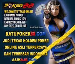 ratupoker 88 judi texas holdem poker online asli terpercaya dan terbesar indonesia