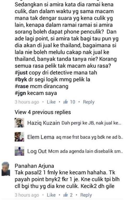 Kronologi Penuh Kes Culik Nur Amirah Atirah di Klang