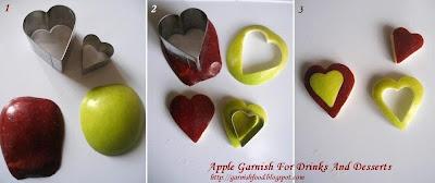 easy fruit garnish of apple