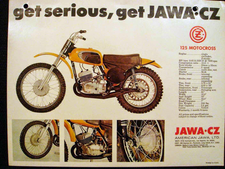 Jawa Cz 125 Motocross ulotka b