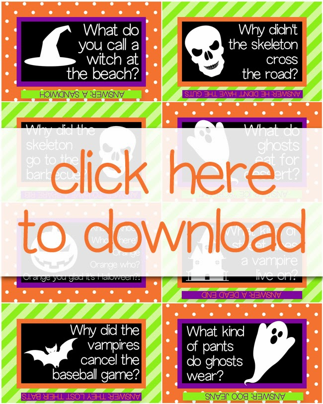 Free Printable Halloween Lunch Box Notes | Your kids will crack up when you stick these in their lunch boxes!