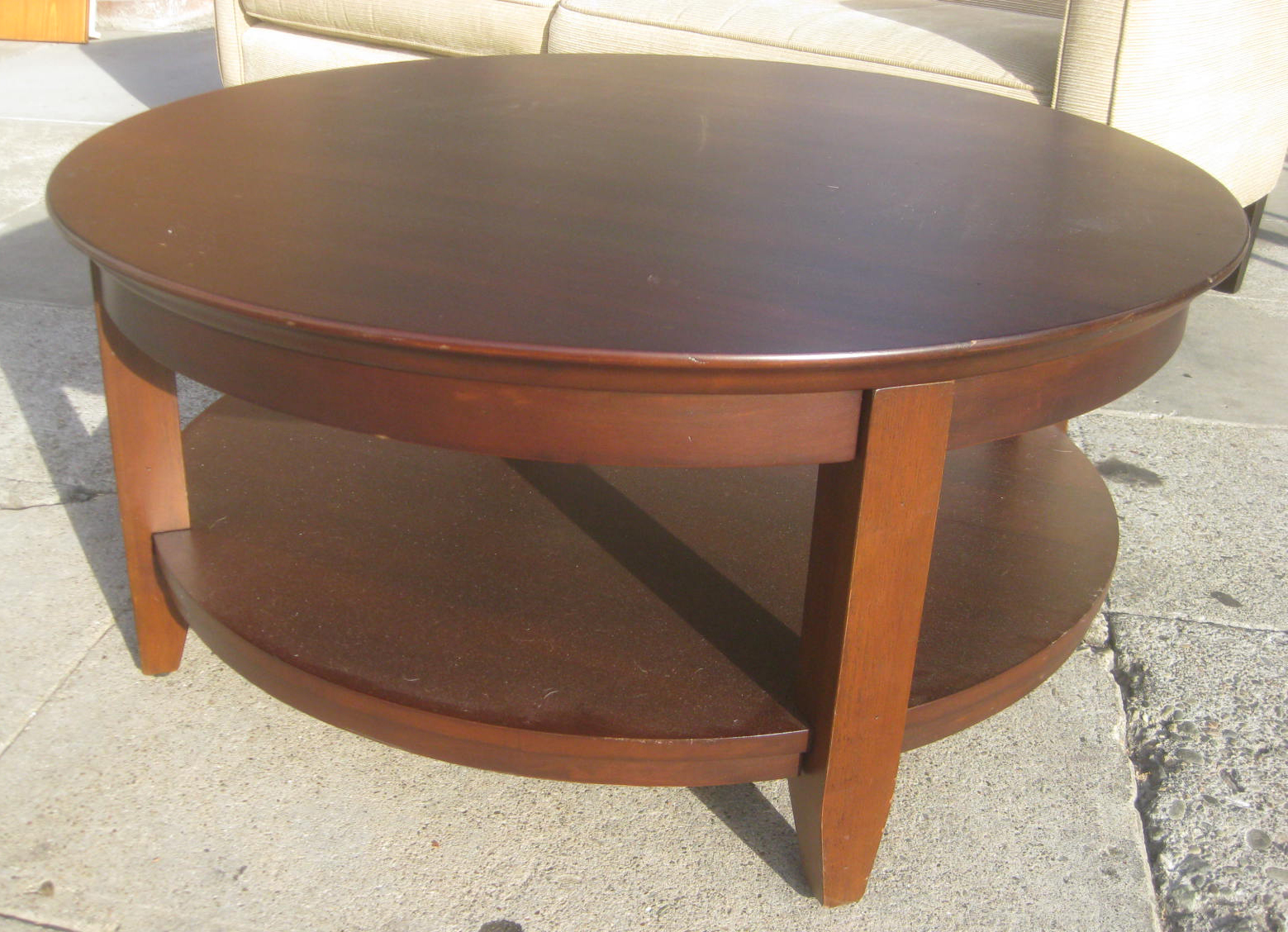 Uhuru furniture collectibles sold round coffee table What to put on a round coffee table