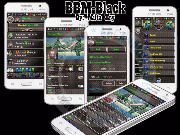 download BBM Mod Versi 2.7.0.23 Tema Black