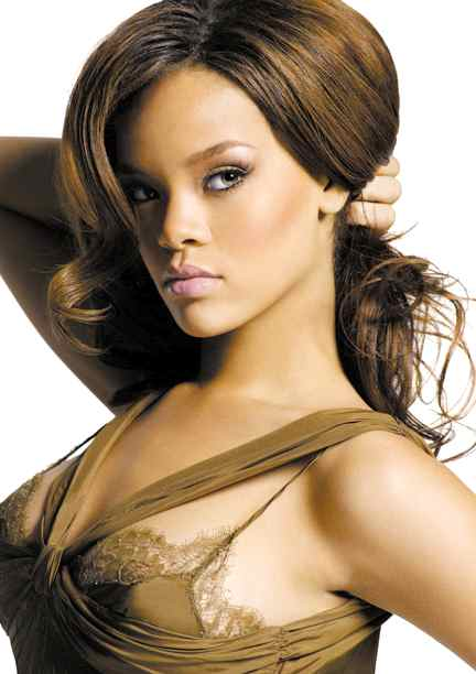 rihanna lovely brown silk outfit Sexy Beach 3 Wallpapers
