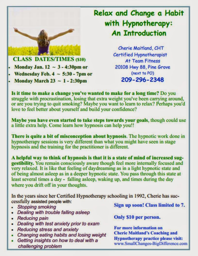 Hypnotherapy Classes - Mar 23